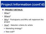 project information cont d1