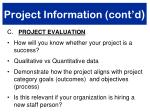project information cont d2