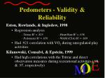 pedometers validity reliability