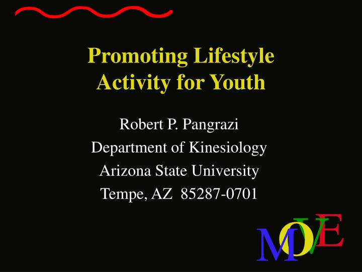 promoting lifestyle activity for youth n.