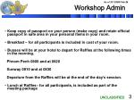 workshop admin