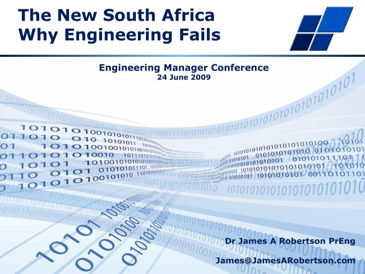 the new south africa why engineering fails n.