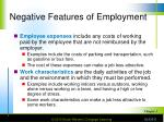 negative features of employment