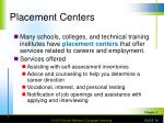 placement centers
