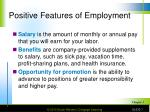positive features of employment