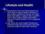 lifestyle and health