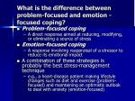 what is the difference between problem focused and emotion focused coping