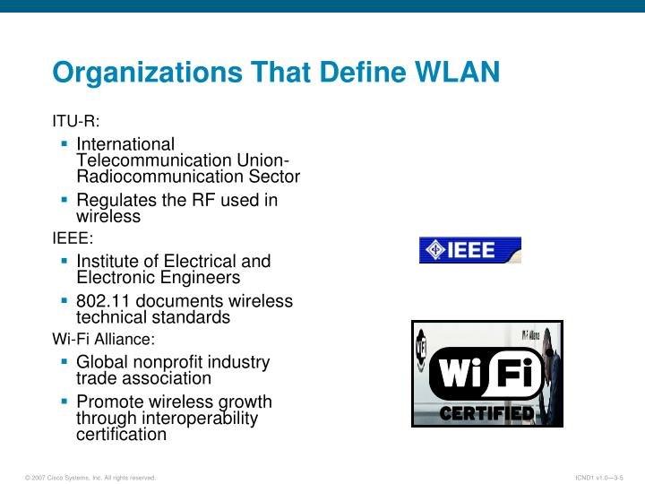 Organizations That Define WLAN