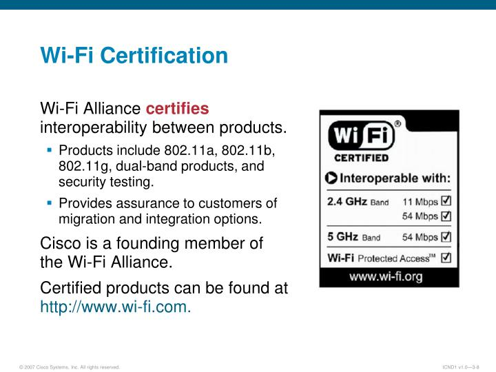Wi-Fi Certification