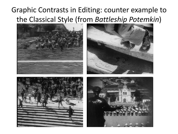 Graphic Contrasts in Editing: counter example to the Classical Style (from
