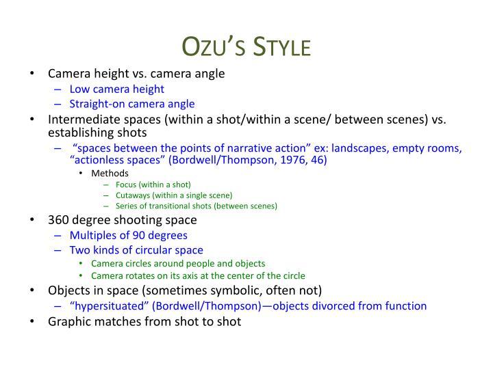 Ozu's