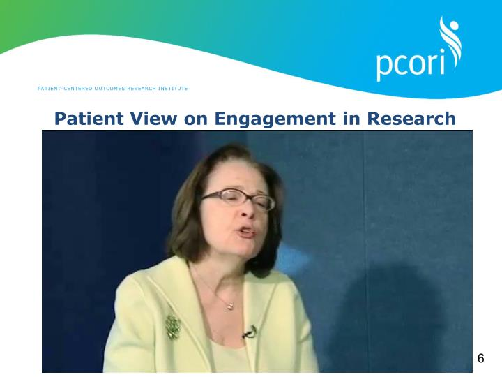 Patient View on Engagement in Research