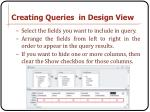 creating queries in design view1