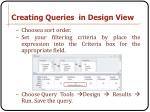 creating queries in design view2