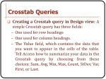 crosstab queries5