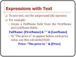 expressions with text