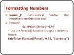 formatting numbers1