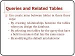 queries and related tables1