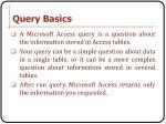 query basics