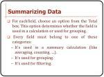 summarizing data3