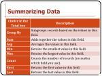 summarizing data4