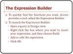 the expression builder