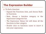 the expression builder1