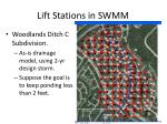 lift stations in swmm7