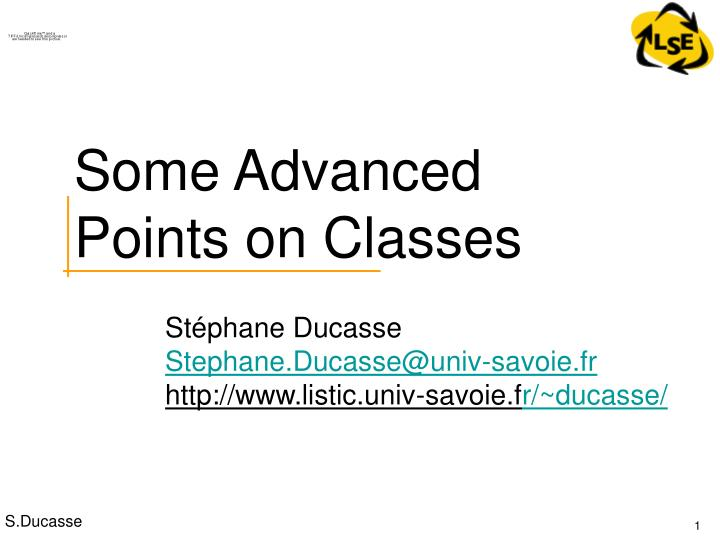 some advanced points on classes n.