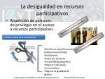 la desigualdad en recursos participativos1