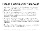 hispanic community nationwide