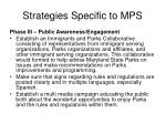 strategies specific to mps3