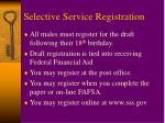 selective service registration