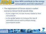 how wp4 contribute to the energy consumption and co2 reduction