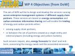 wp 4 objectives from dow