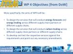wp 4 objectives from dow1