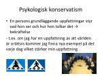 psykologisk konservatism