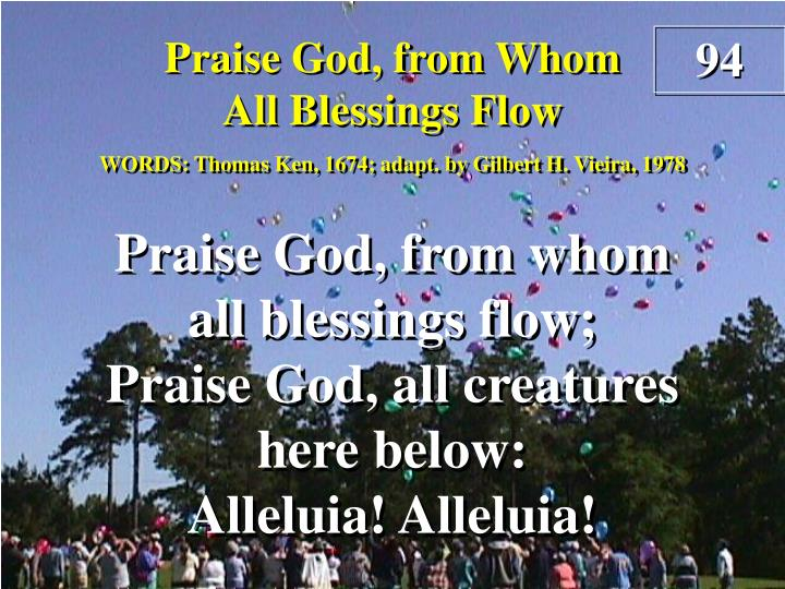 praise god from whom all blessings flow n.