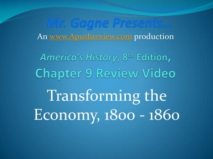 america s history 8 th edition chapter 9 review video n.