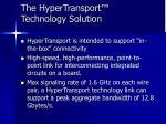 the hypertransport technology solution