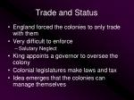 trade and status