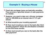example 9 buying a house