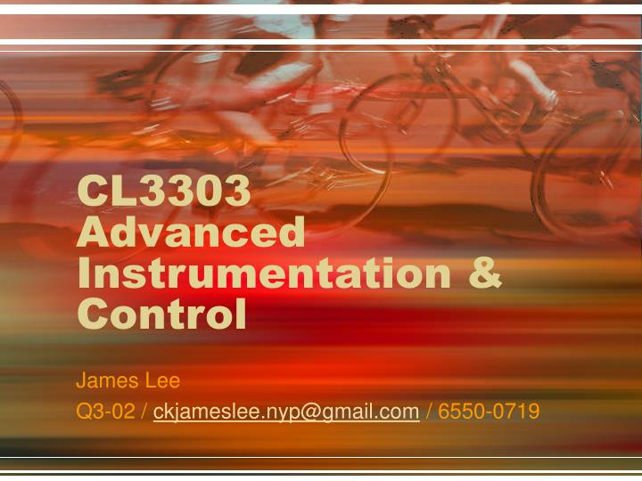 cl3303 advanced instrumentation control n.