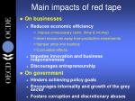 main impacts of red tape
