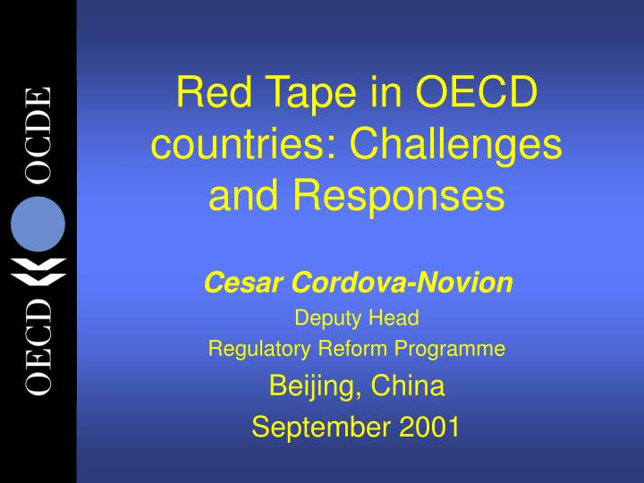 red tape in oecd countries challenges and responses n.