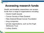 accessing research funds