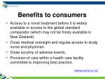 benefits to consumers