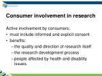 consumer involvement in research
