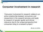 consumer involvement in research1