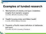examples of funded research